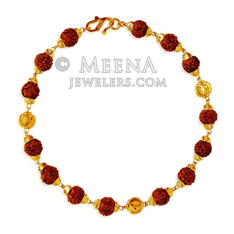 22k gold mens rudraksha bracelet brmb21069 22k gold