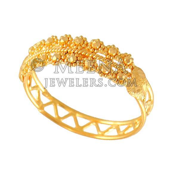 M Ring Gold
