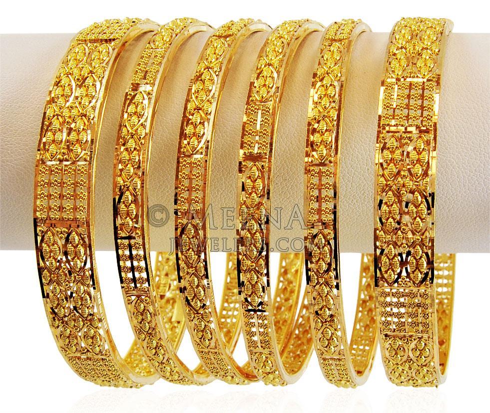 Bangles Set 22K Gold - bast17323 - US$ 3,615 - 22K Gold ...