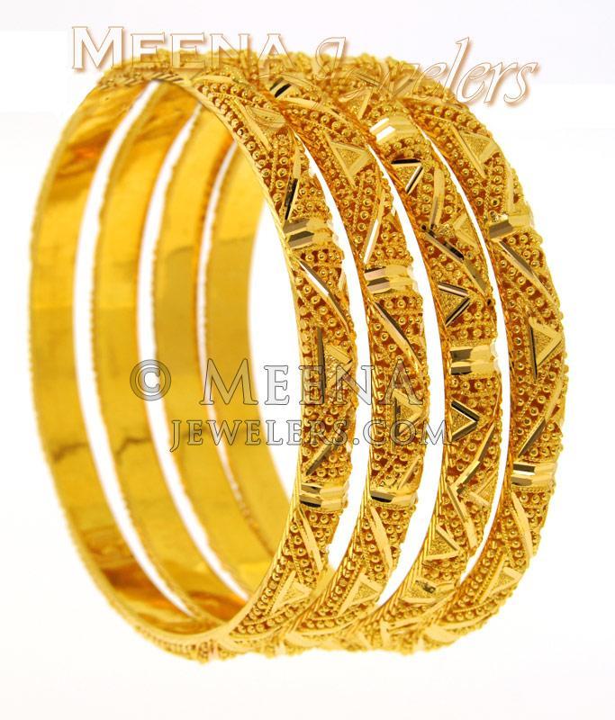 22kt Gold Hand Made Bangels Bagb1578 22 Kt Gold